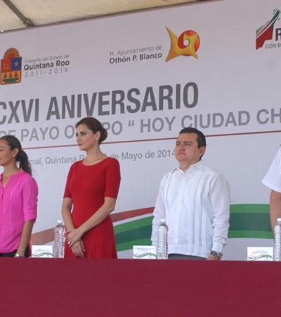 Desaira Borge a chetumaleños en aniversario de la fundación de Payo Obispo