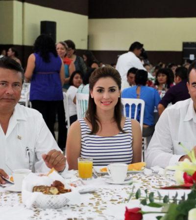 EVITA GOBERNADOR AL MAGISTERIO: Manda Borge a su esposa a encabezar celebraciones oficiales del Día del Maestro en QR