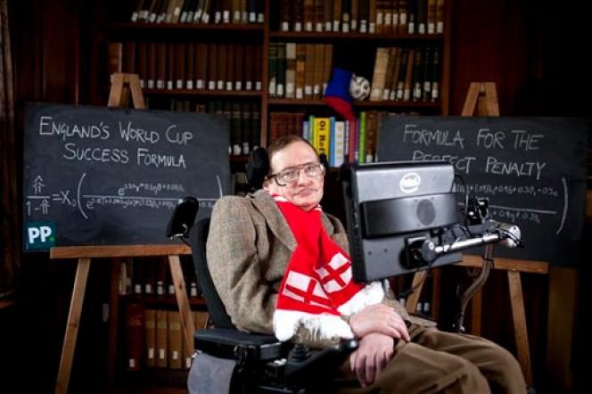 GENIO MUNDIALISTA: Revela Stephen Hawking la fórmula científica para ayudar a Inglaterra a ganar en Brasil