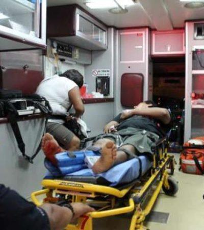 BALEAN A 'CHAPULINES' EN PUERTO MORELOS: Atacan a balazos a 2 jóvenes que vendían droga en Villas del Mar