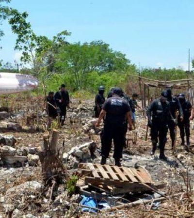Desalojan predio invadido en la Región 225 de Cancún
