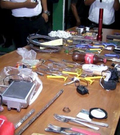 CATEAN CÁRCEL DE PLAYA: Decomisan teléfonos y artefactos prohibidos a reos