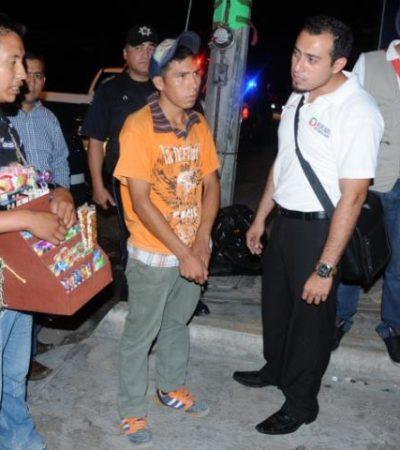 Rescatan a menores vendiendo en la calle y a 4 indocumentados guatemaltecos en Cancún