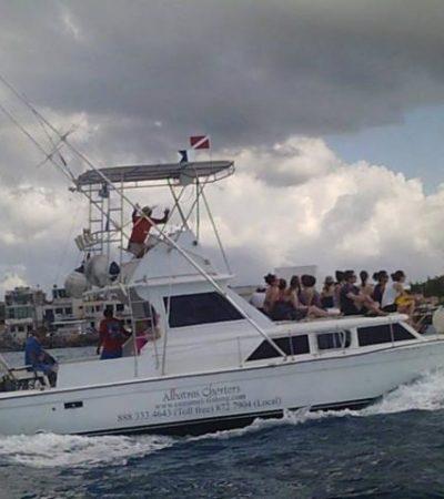 NAUFRAGA EL 'ALBATROS': Se hunde yate turístico en Cozumel; rescatan a pasajeros y tripulantes