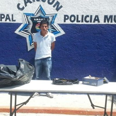 Detienen a 3 con droga en diferentes puntos de Cancún