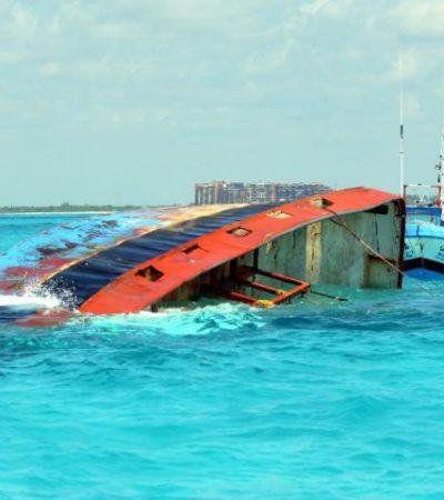 Trasladan a Campeche cuerpo de pescador fallecido en el naufragio de barco camaronero