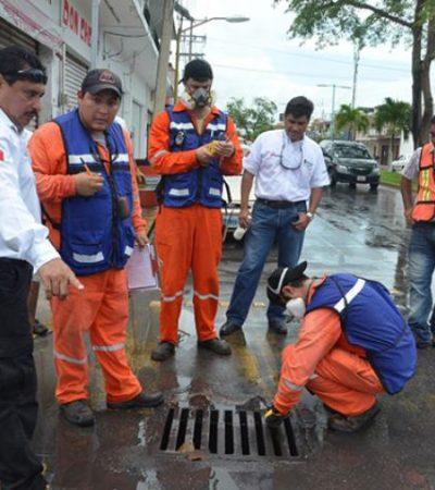 Sanearán drenaje pluvial de Chetumal por investigación de derrame de gasolina
