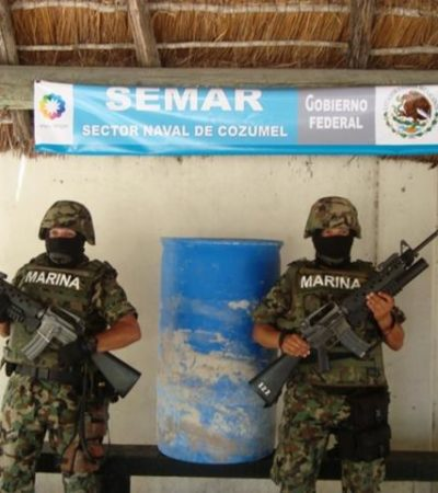 Recalan 30 kilos de marihuana en Cozumel