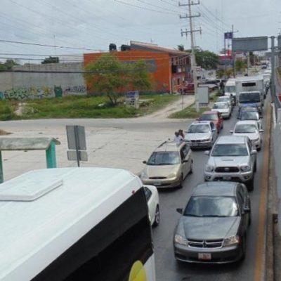 Cierre parcial de puente por obras provoca caos vial en Playa; piden retomar Plan de Movilidad Urbana