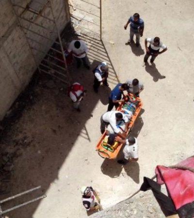 Se derrumba pared sobre un trabajador en el hotel Azul Five de Playa