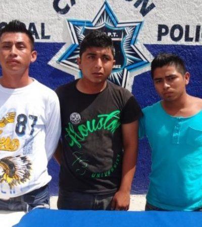 Caen 3 con 'crack' en la Región 228 de Cancún