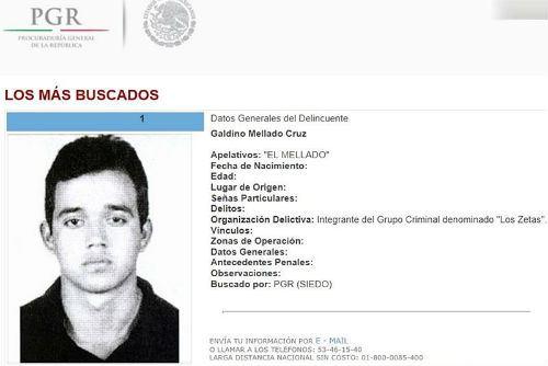 Reportan muerte de Galindo Mellado Cruz, el 'Z-9', uno de los fundadores de 'Los Zetas'