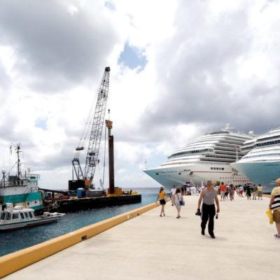 Invertirá Carnival Corporation 20 mdd para ampliar el muelle de Puerta Maya en Cozumel; podrán atracar 3 cruceros a la vez