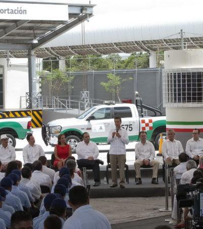CIERRAN GARITAS ADUANALES: Jubila Peña en QR las estaciones de Nuevo Xcan, Tepich, Dziuché y Caobas y reiterá inversión de 1.2 bdp en infraestructura