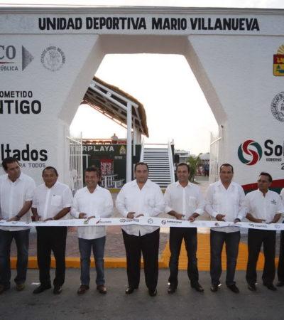 SE DESTAPA LA CLOACA: Brotan desvíos de la deuda de Solidaridad en remodelación de Unidad Deportiva 'Mario Villanueva'