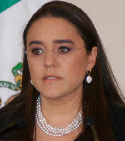 QUE NO SE ENRIQUECIÓ: Exonera Función Pública a Alejandra Sota, ex vocera de Calderón