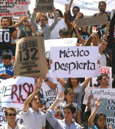 LEVANTAN LA VOZ CONTRA 'LEYES MORDAZA': Exige #YoSoy132 derogación de leyes en varias entidades que pretenden regular la protesta social