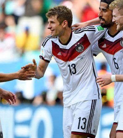 APLASTA ALEMANIA A PORTUGAL: De la mano de Muller, los teutones borran 4-0 a los lusos con todo y Ronaldo