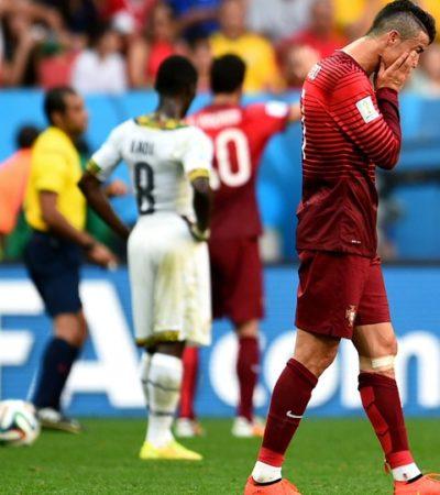 TRIUNFO SIN GLORIA PARA PORTUGAL: Con gol de Ronaldo, los lusos vencen a Ghana, pero ambos se quedan fuera del Mundial