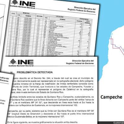 LE METE INE GOL A QR EN LÍO LIMÍTROFE: Ventila revista 'rasurada' de territorio a municipios en favor de Campeche