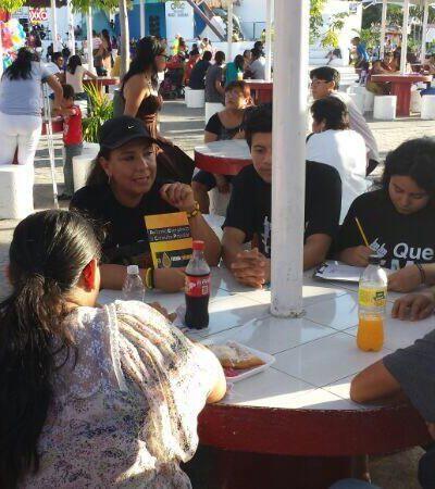 Recaba diputada federal firmas para consulta popular sobre reforma energética en el parque Las Palapas de Cancún
