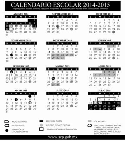 Difunde SEP calendario escolar 2014-2015