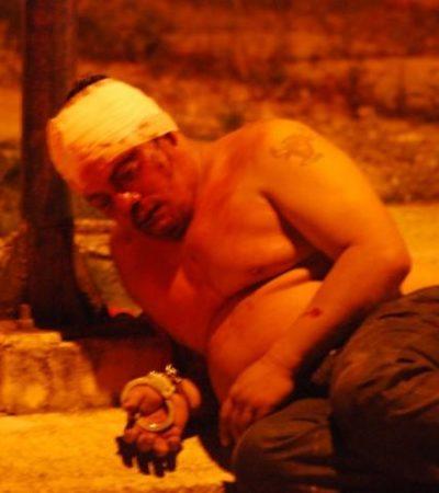 Esposado y torturado, encuentran a un hombre en la Región 248 de Cancún