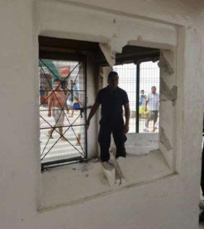 Aún no terminan de cuantificar daños en juzgados e instalaciones del penal de Cancún tras amotinamiento