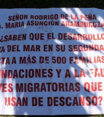 NUEVA PROTESTA POR DEVASTACIÓN EN PUERTA DEL MAR: Vecinos del fraccionamiento Bahía Azul denuncian poco interés de autoridades para proteger zona de manglar