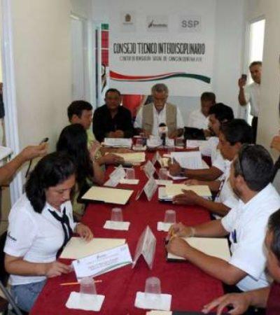 Analizan sanciones para reos implicados en amotinamiento en cárcel de Cancún