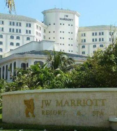 Riña de empleados en la cocina del hotel JW Marriot de Cancún termina con saldo de un herido