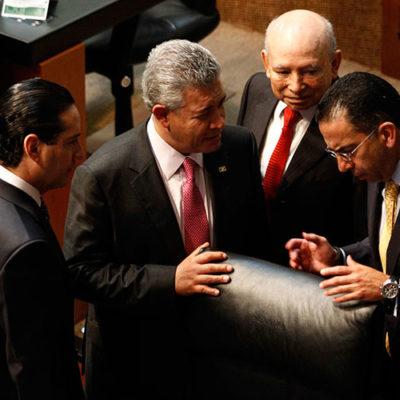EL MUNDIAL, EN BRASIL; EN EL SENADO, LOS GOLES: Aplican 'fast track' PRI, PAN y PVEM y aprueban dictamen de sector eléctrico