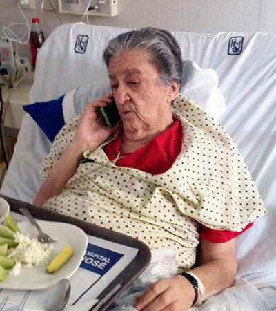 Trasladan a un hospital de Guadalajara a 'Mamá Rosa'