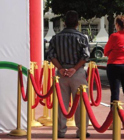 Encapsulado, con vallas y guaruras, reinaugura Borge domo en Chetumal