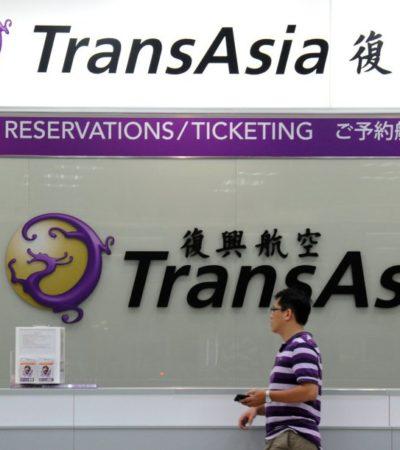 OTRO ACCIDENTE AÉREO: Confirman caída de avión en vuelo doméstico en Taiwan; hay por lo menos 50 muertos