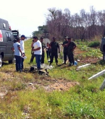 Un militar muerto y 4 heridos, saldo de volcadura en carretera de Campeche