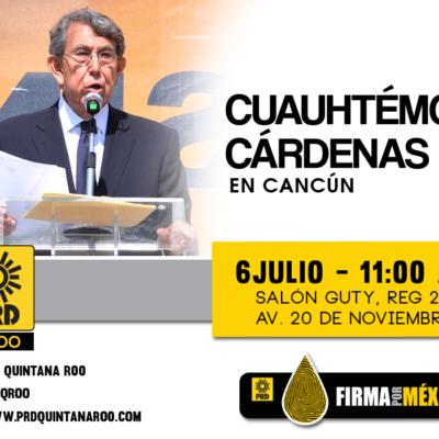 Pretenden sabotear visita de Cuauhtémoc Cárdenas a Cancún con información falsa en redes sociales