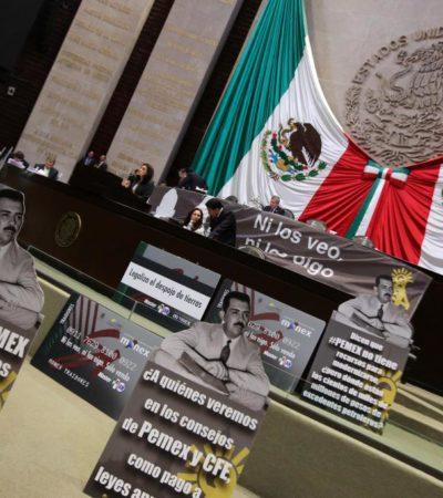 """""""NI LOS VEO NI LOS OIGO, SÓLO VENDO"""": En medio de protestas, aprueban diputados en lo general Ley de Hidrocarburos"""