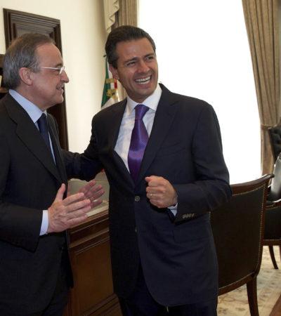 METE FLORENTINO GOLAZO EN MÉXICO: Ventilan billonarios contratos de Pemex al presidente del Real Madrid