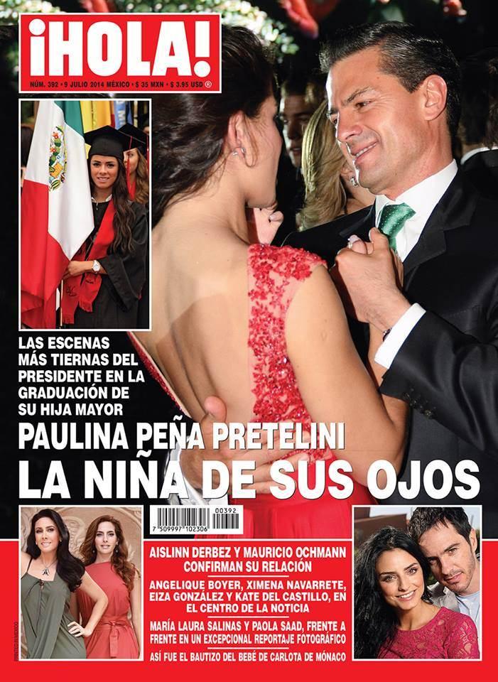 """""""LA NIÑA DE SUS OJOS"""": Campea frivolidad en Los Pinos y ahora es EPN el que aparece con su hija en 'revista del corazón'"""