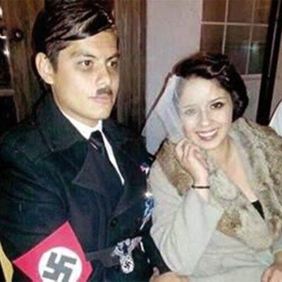 Surgen más panistas con proyección nazi; ahora se disfrazan de Hitler y Eva Braun
