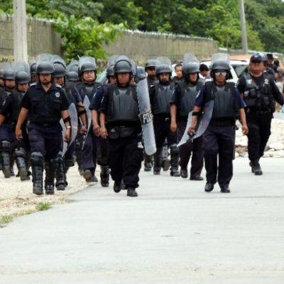 Fuerte movilización policiaca por nueva amenaza de motín en la cárcel de Cancún tras 'suicidio' de reo