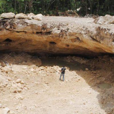 RAMPANTE ECOCIDIO EN LA RIVIERA MAYA: Denuncian relleno de un cenote en zona de nuevos fraccionamientos en Playa