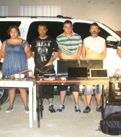 Cae banda internacional de saqueadores de residencias en el complejo Playacar
