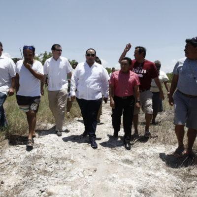 """""""NO ERA MANGLAR"""": Contradice funcionario estatal a la Profepa y dice que no hubo tala de manglar en Holbox; Borge recorre zona de conflicto"""