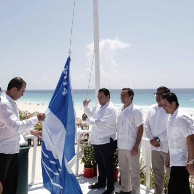 HACEN CARAVANA… CON BANDERA AJENA: Izan la 'Blue Flag' en tres playas de Cancún, pero borran 'huellas' del pasado