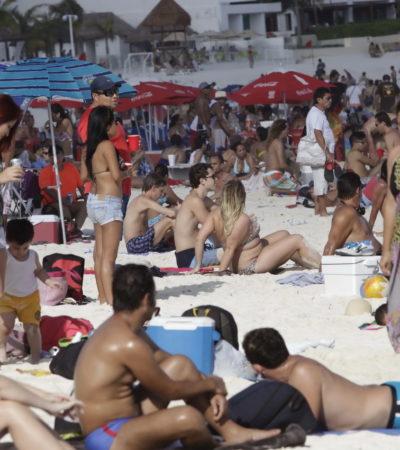 CARIBE MEXICANO, AL TOPE: Miles de turistas saturan los destinos de playa de Quintana Roo durante Semana Santa