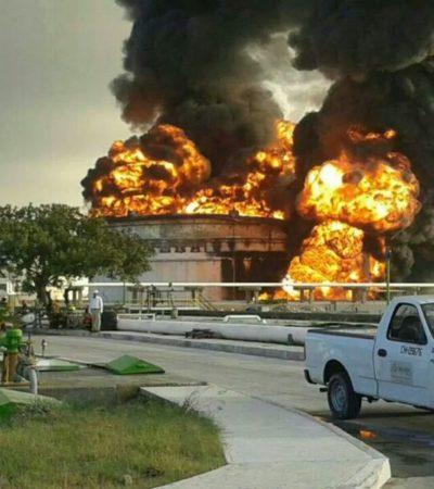 Extinguen incendio en refinería Madero en Tamaulipas