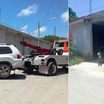 GOLPE A ROBACOCHES EN CANCÚN: Por una unidad con GPS, hallan bodega de autos robados en Bonfil
