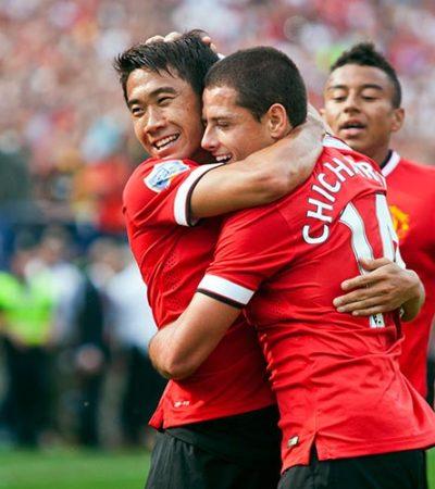 Anotación del 'Chicharito' en goleada del Manchester United al Real Madrid